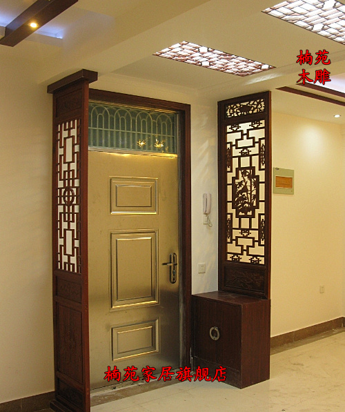 Get Quotations · Dongyang Wood Carving Chinese Antique Doors And Latticed  Doors Solid Wood Doors Carved Hollow Partition Wall