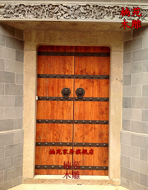 Dongyang wood carving wood doors carved wood weathered antique chinese door patio door villa big house door
