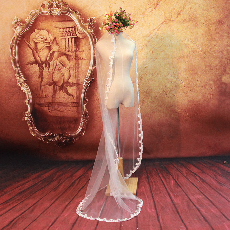 Door of the bride upscale bridal veil wedding veil diameter of about 2 of new veil 064 white