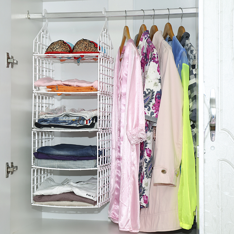 Dormitory clothes storage bag hanging wardrobe closet storage rack storage rack mobile rack for hanging clothes pouch