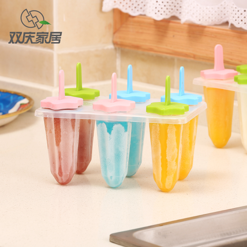Double celebration creative diy homemade popsicle mold ice cream popsicle mold ice box ice lattice ice cream sorbet ice cream mold