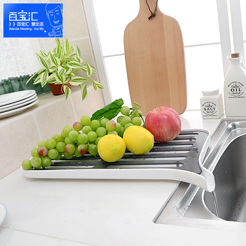 Double celebration kitchen plastic dishes drain rack double drain fruit and vegetable rack storage rack multifunction shelving