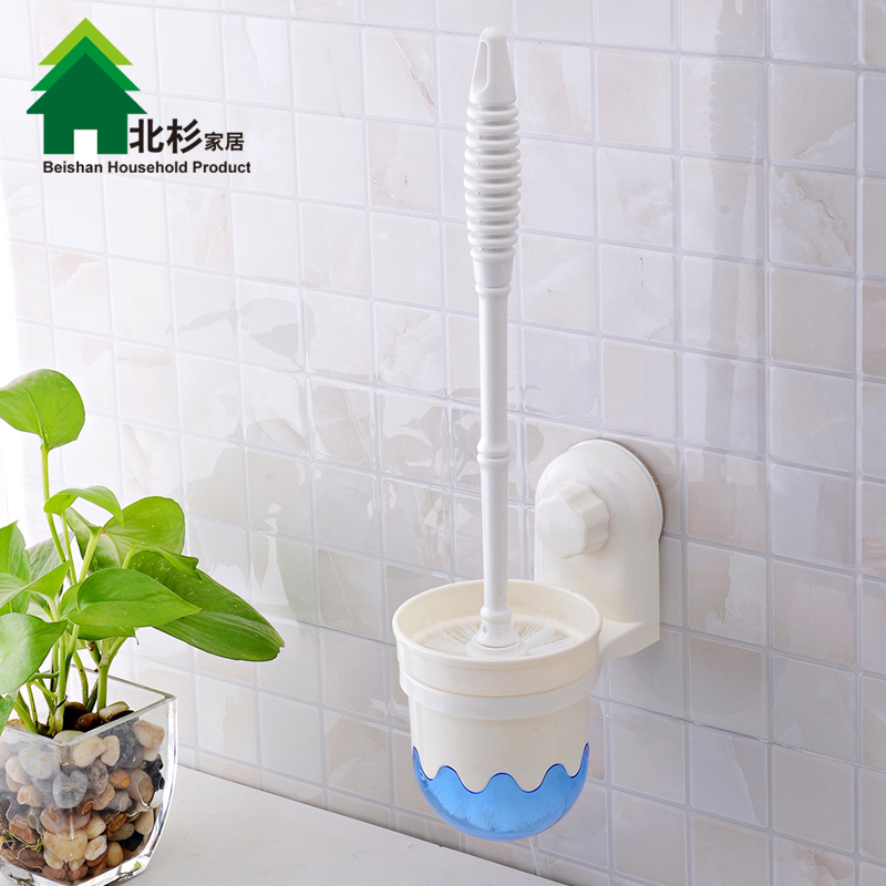 Double celebration toilet brush kit free postage creative sucker toilet brush toilet toilet toilet brush toilet brush soft mao qingjie