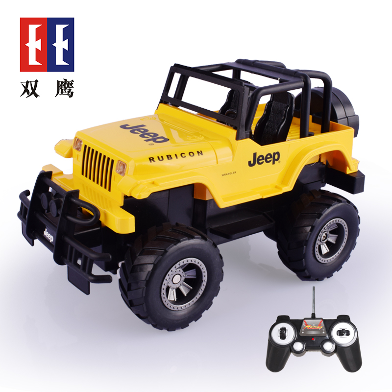 Double eagle 20121:18 jeep remote control car toys for children can be drivegrip toy car model sport utility vehicle charging remote control car