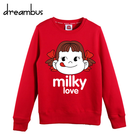 Dream bus cartoon casual round neck sweater hedging autumn korean version of college wind hundred ride coat yncp 217