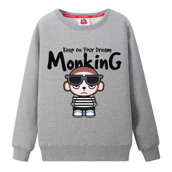 Dream bus dream monkey men and women casual round neck sweater thin section korean version of the spring and autumn sweaters yxd 047