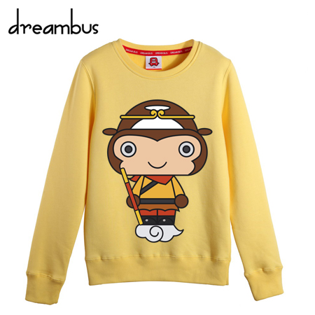 Dream bus tide brand original design monkey king journey little star dream dream of men and women round neck sweater 057