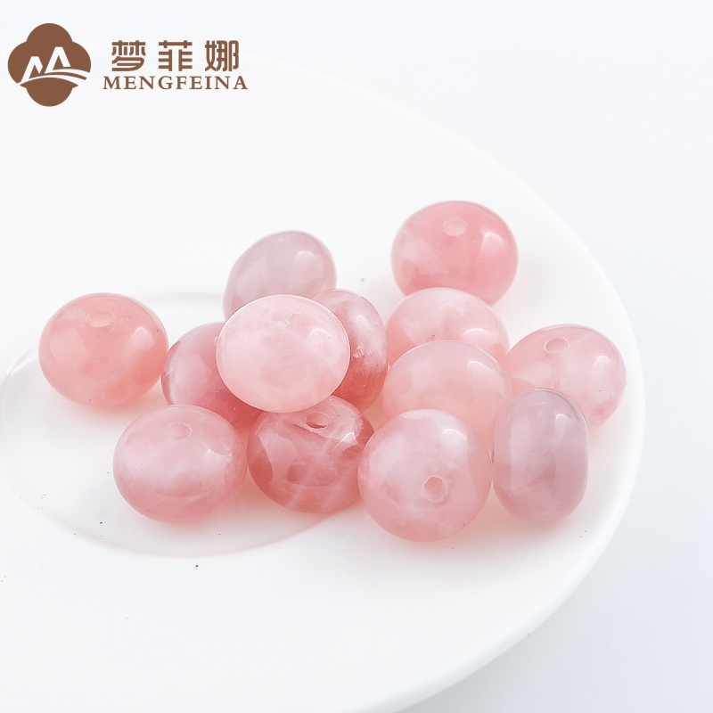 Dream fina madagascar rose quartz bead abacus beads drum beads loose beads spacer beads waist beads xingyue diamond 、 pink horse