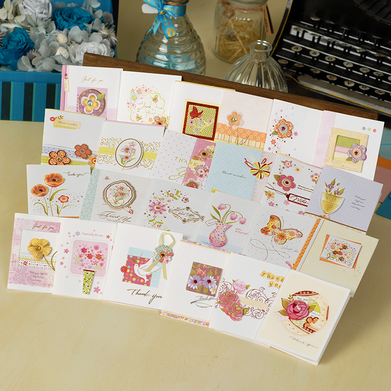 Dreamday MINI-1201 exquisite mini greeting card greeting card universal card thank you card (01-12)