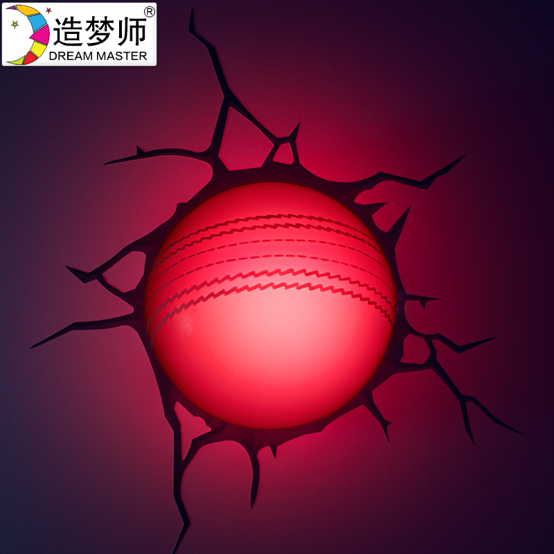 Dreaming division mini cricket crack decorative wallpaper wallpaper 3d stereoscopic 3d creative wall lamp wall lamp bedroom study personality lamps