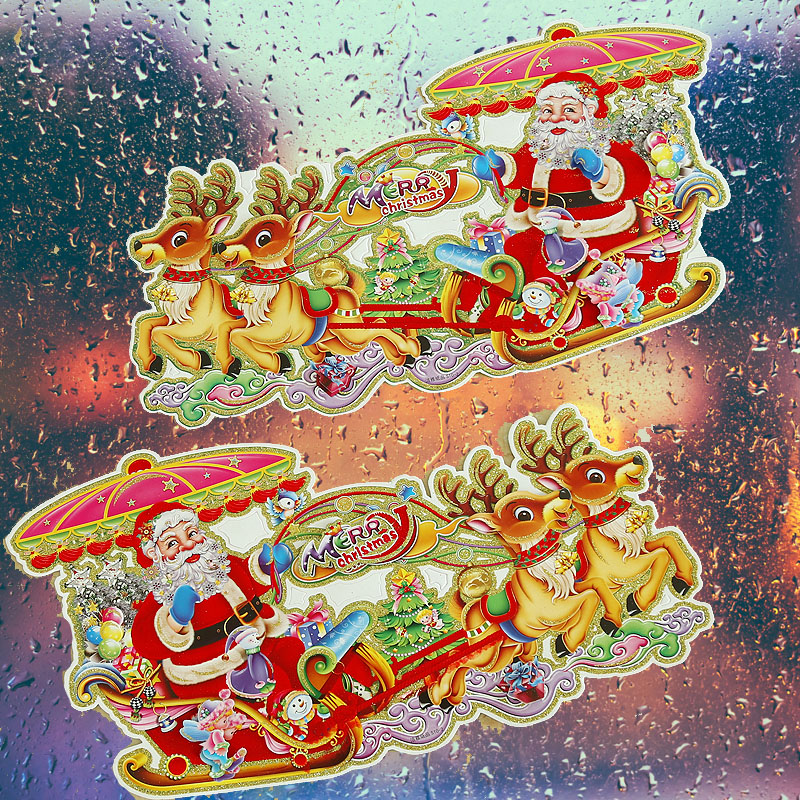 Drive to the sticker stickers christmas decorations santa claus christmas decorations christmas holiday decorations supplies klimts