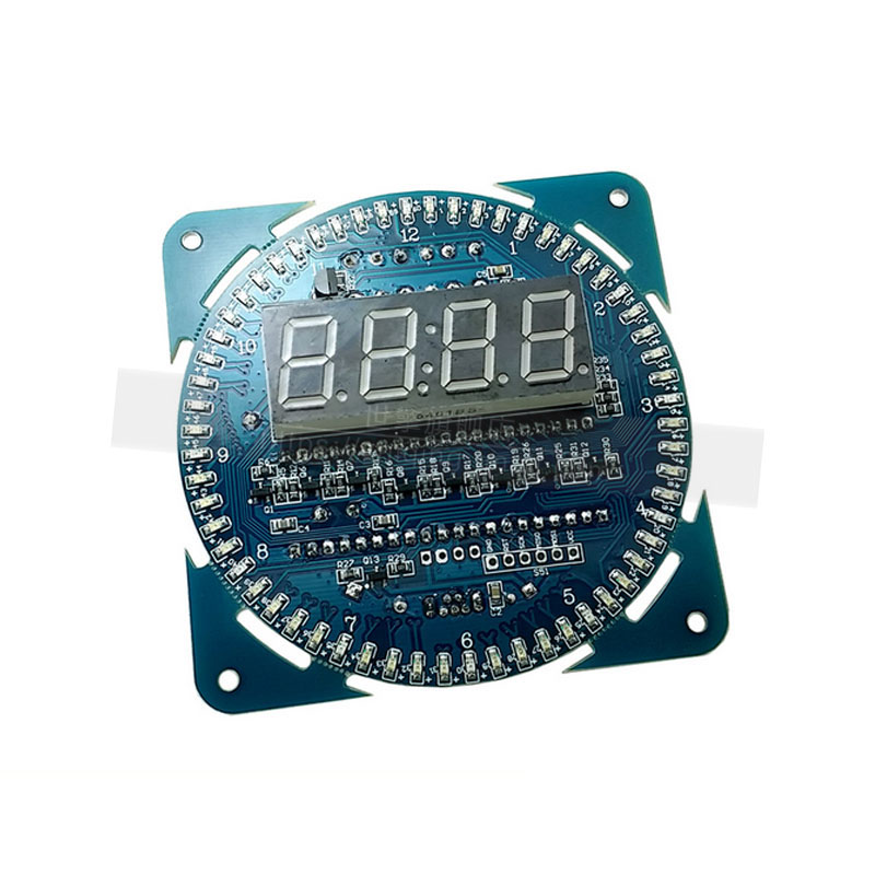 Ds1302 clock electronic table alarm clock rotating led display creative diy wall clock temperature display alarm