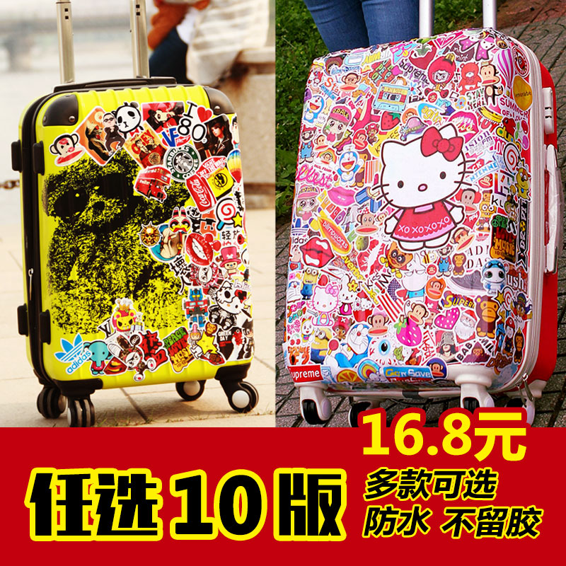 Duobei te graffiti suitcase trolley suitcase stickers personalized stickers luggage stickers tide brand luggage stickers creative