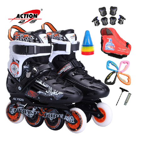 Dynamic a66 dynamic skates adult inline skates single row roller skates adult men and women fancy flat huaxie