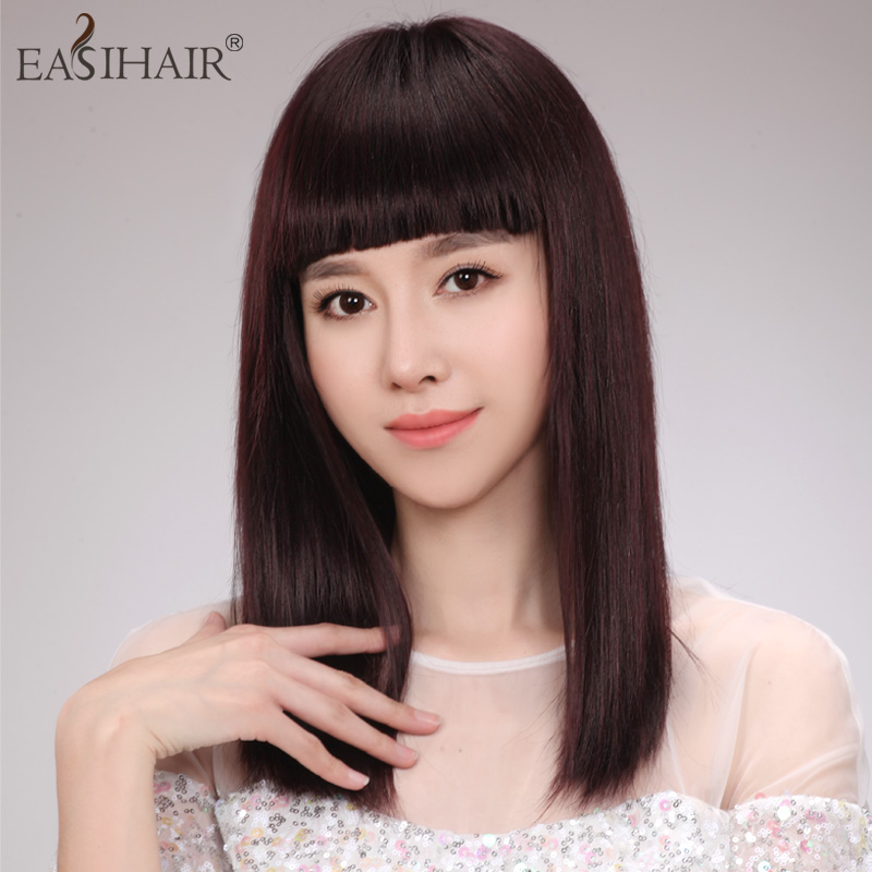 Easihair hand woven hair wig wigs real hair wig long straight hair wig hair female
