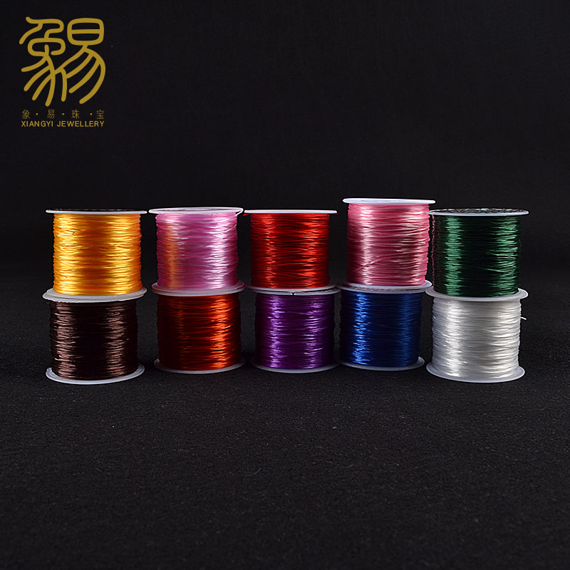 Easy as elastic thread flat crystal elastic cord bracelet to wear beads transparent wire rod fishing line handmade diy