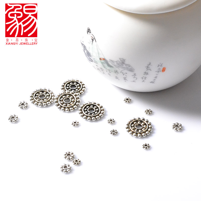 Easy as spacer spacer beads diy accessories tibetan silver spacer beads loose beads handmade beaded snowflake piece of material