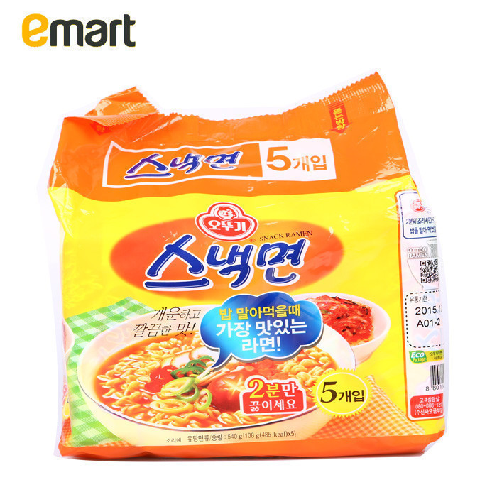 Easy to buy imported from korea emart ao shiji convenient fast food snack noodles 108g * 5 bags of instant noodles
