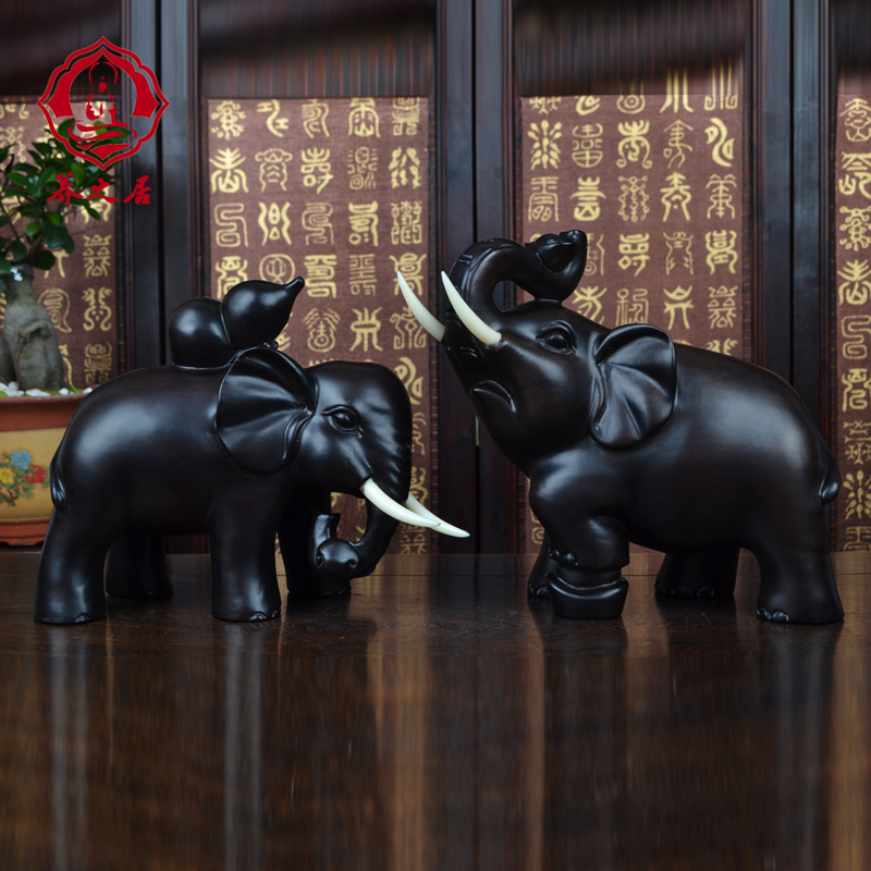 Ebony wood carving wood carving elephant elephant mascot object ornaments handmade wood carving lucky craft