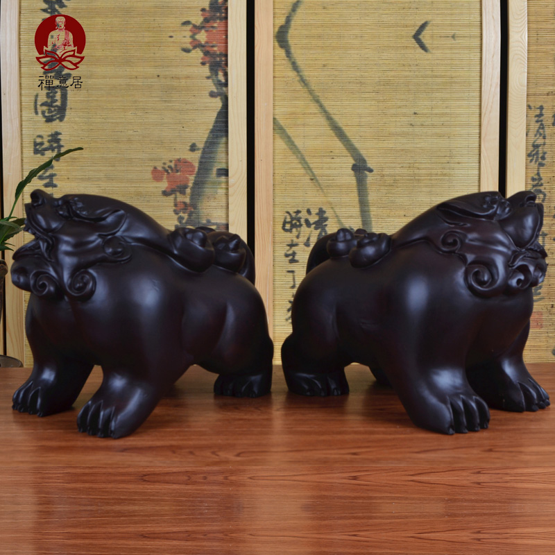 Ebony wood carving wood carving ornaments brave opening of lucky feng shui mahogany furniture mahogany wood crafts furnishings