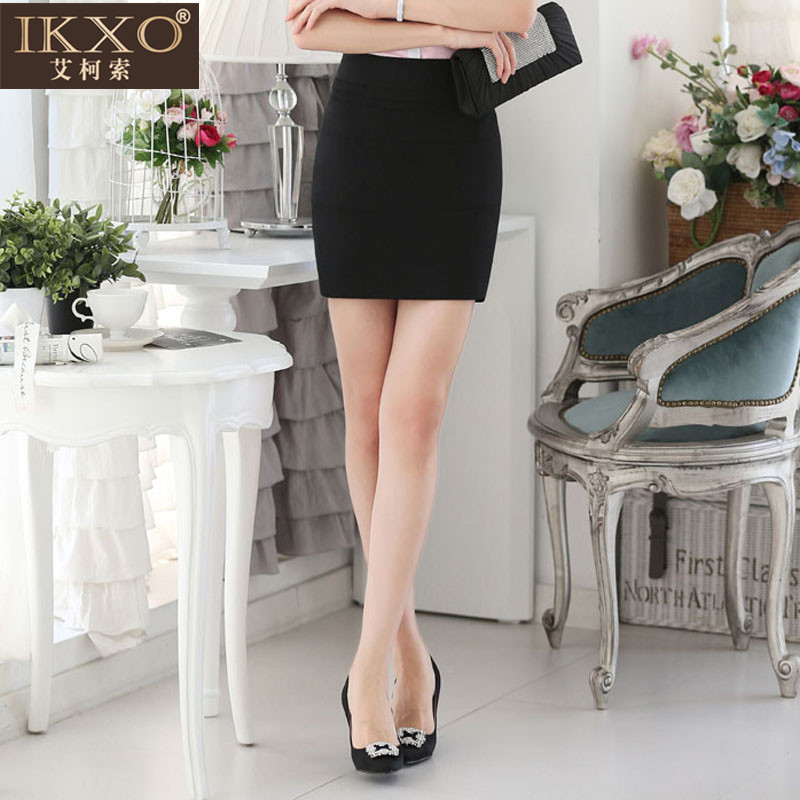 e4698f823ac Get Quotations · Eco ikxo suo summer new office ol wild temperament slim  package hip skirt waist skirts short