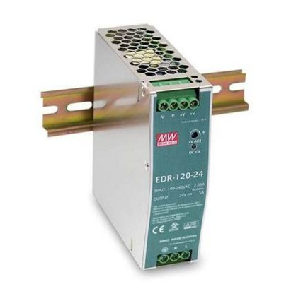 EDR-120-24 slideways ultrathin meanwell switching power supply 120 w 24v5a economic ultrathin meanwell rail power supply