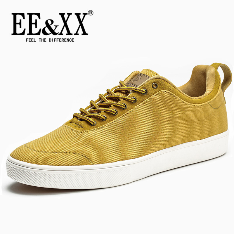 EEXX2016 korean version of a solid color casual men's shoes with flat shoes flat bottom shoes skateboarding shoes to help low canvas lace through the influx of 7188