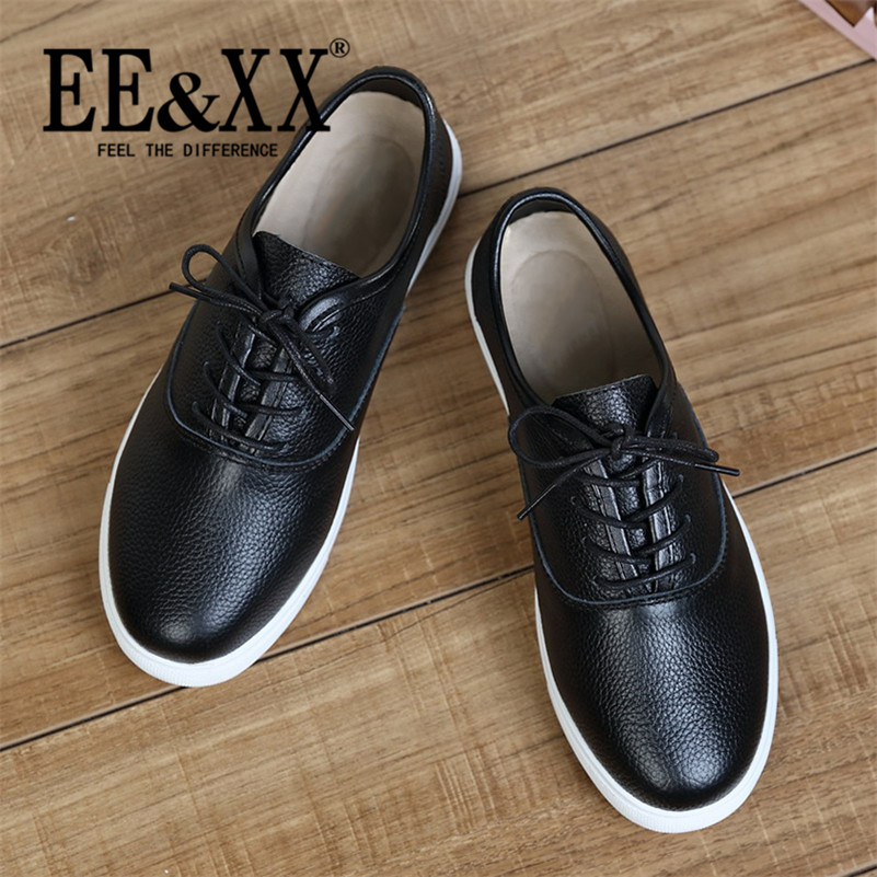 EEXX2016 new spring stylish and comfortable deep mouth round low shoes lace solid color casual shoes tide 3603