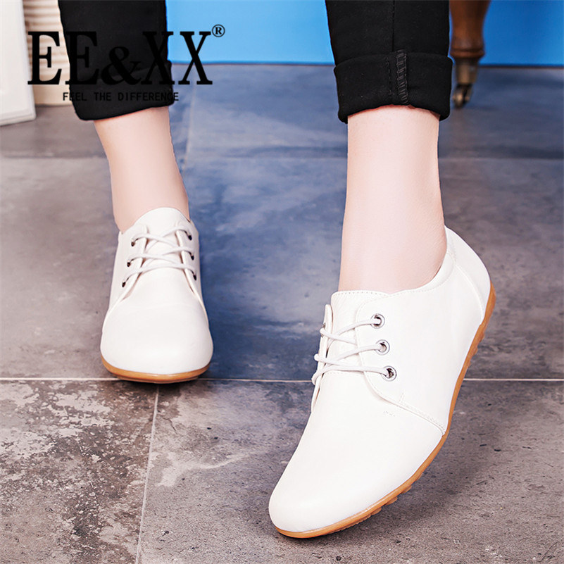 EEXX2016 new spring stylish and comfortable rubber adhesive shoes shallow mouth casual flat shallow mouth to help low shoes 9697