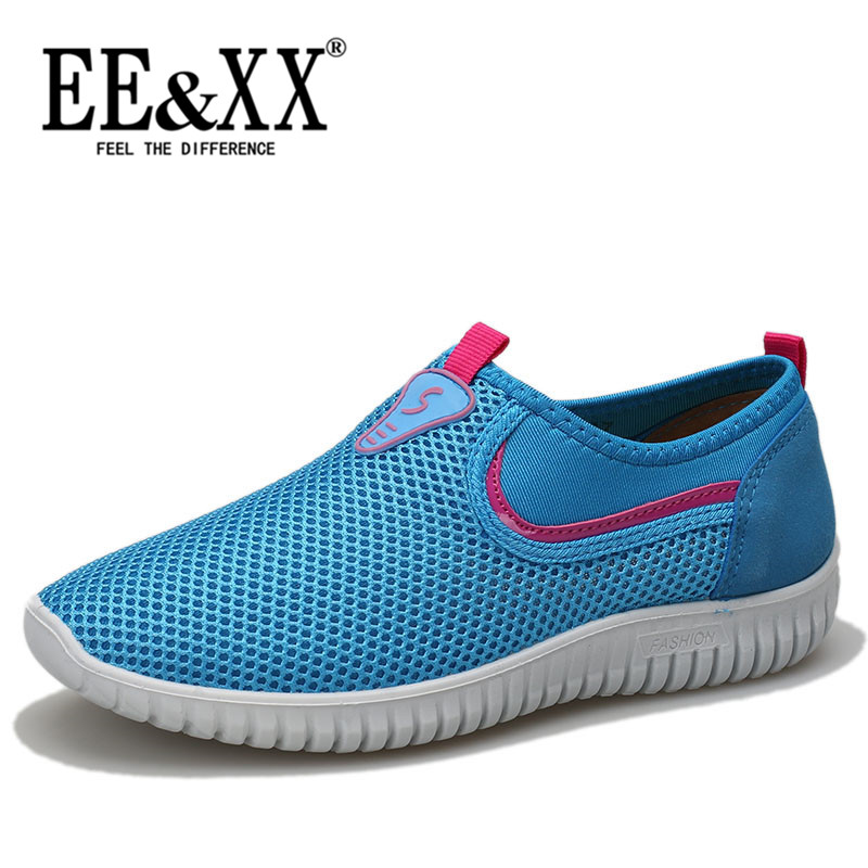 EEXX2016 summer new stylish and comfortable breathable mesh shoes wild round flat casual shoes set foot 6902