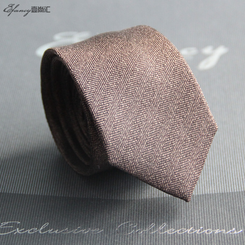 Efancy silk tie men dress business tie korean version of fashion casual silk 5c m tie narrow version of the work