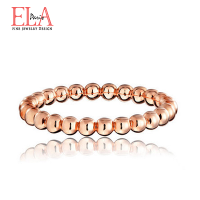 Ela18k yellow and rose gold ball stackable rings tail ring couple rings female models are goods