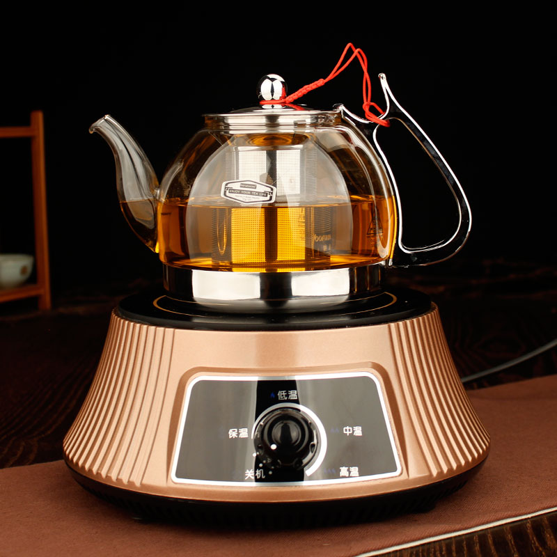 Electric ceramic stove kung fu tea glass set stainless steel filter glass teapot boiling kettle cooker pot kettle