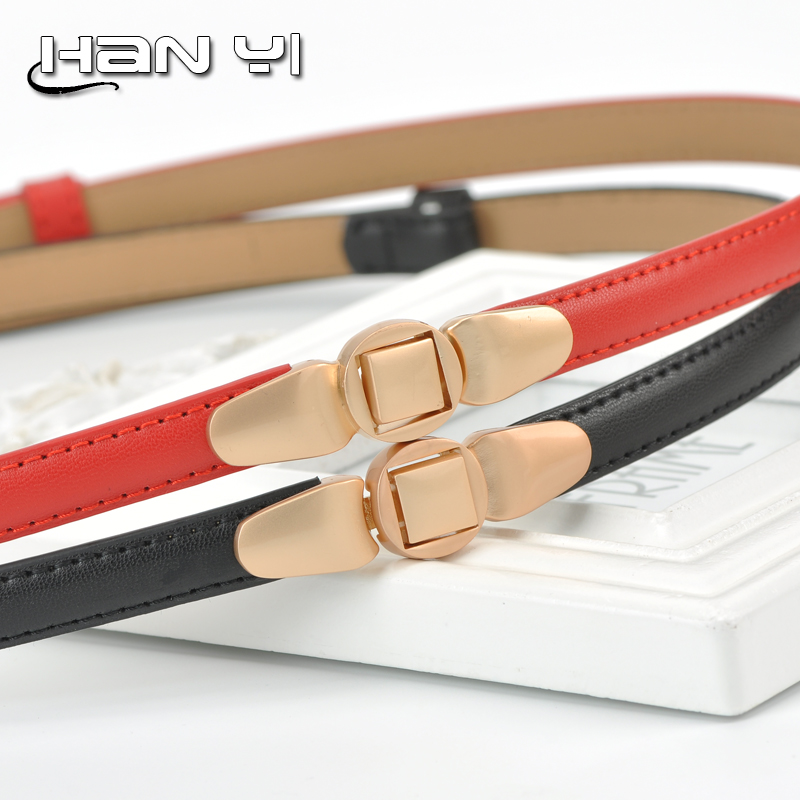 Elegant fashion female fine ladies leather belt leather belt thin belt korean wild small decorative belt dress