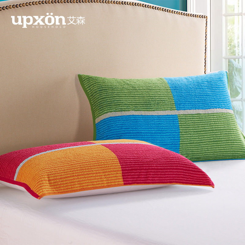 Eltham classic fancy striped single special genuine soft thick cotton pillow covers one pair of lovers summer pillow