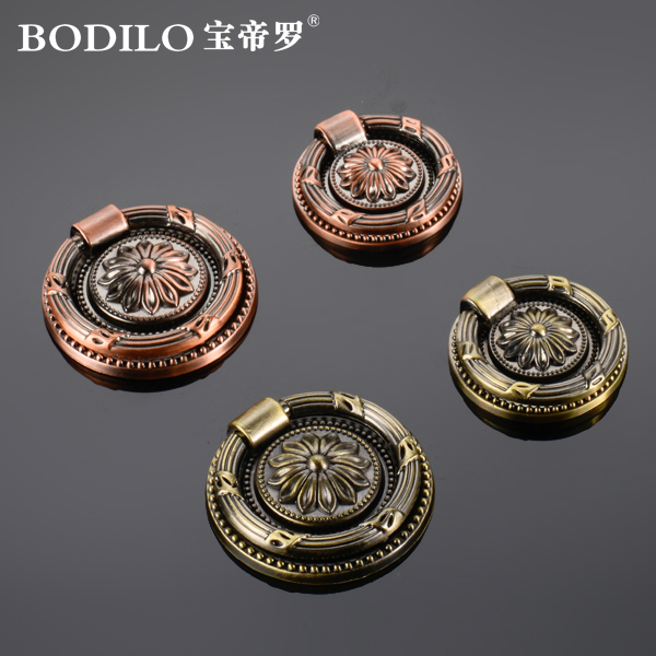 Emperor bao luo european retro hole handle door handle drawer handles imitation of classical chinese bronze handle handle hidden stealth