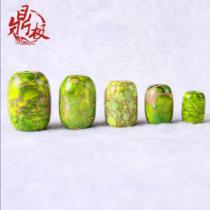 Emperor imperial green stone stone barrel drum beads beads beads diy accessories spacer beads loose beads top waist beads beads buddha accessorise