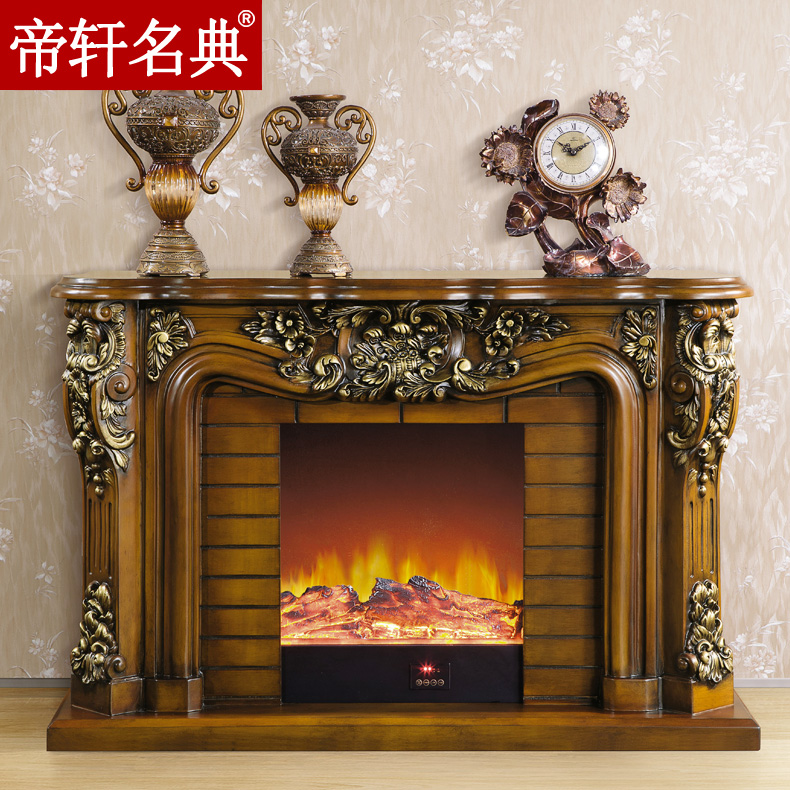 Emperor xuan code of european american wood fireplace mantel decoration cabinet 1.5/1.2 m oven rack decorative heating stoves