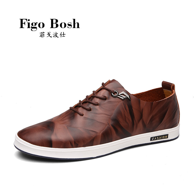 End custom brand figobosh 2016 autumn retro style men's leather casual shoes lace england