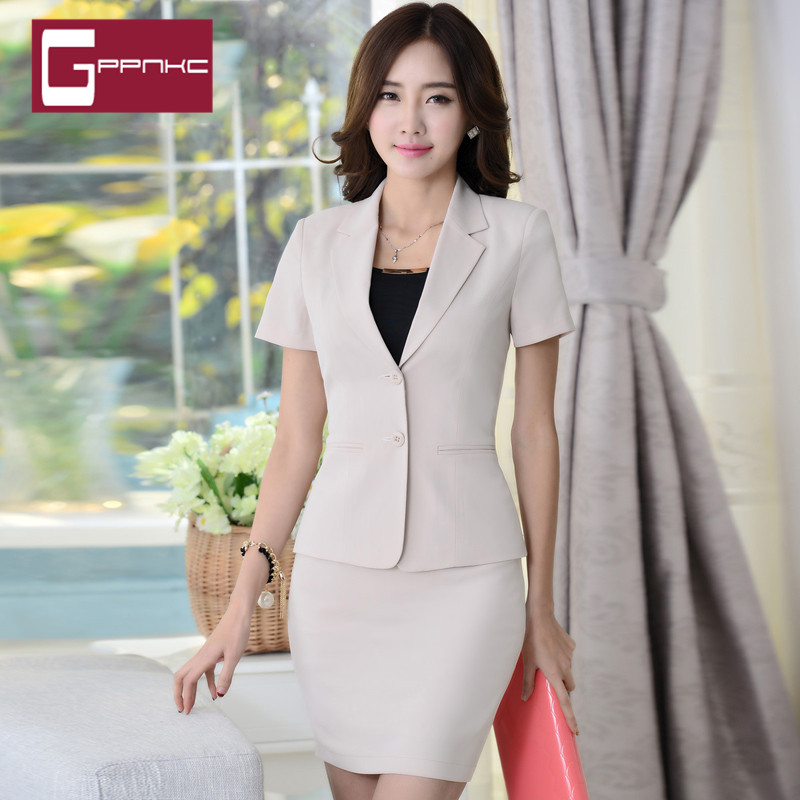 End custom brand gppnkc 2016 new summer ladies wear suits korean slim suits
