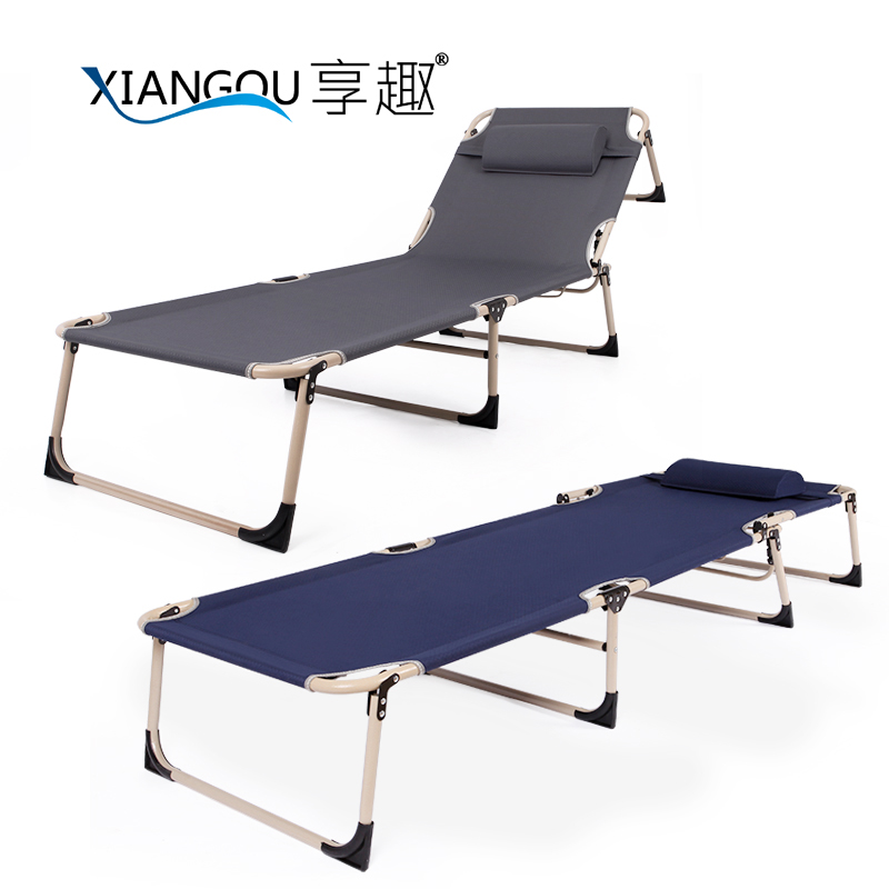 Enjoy fun folding bed reinforcement office lunch break easy folding bed single bed nap bed camp bed beach