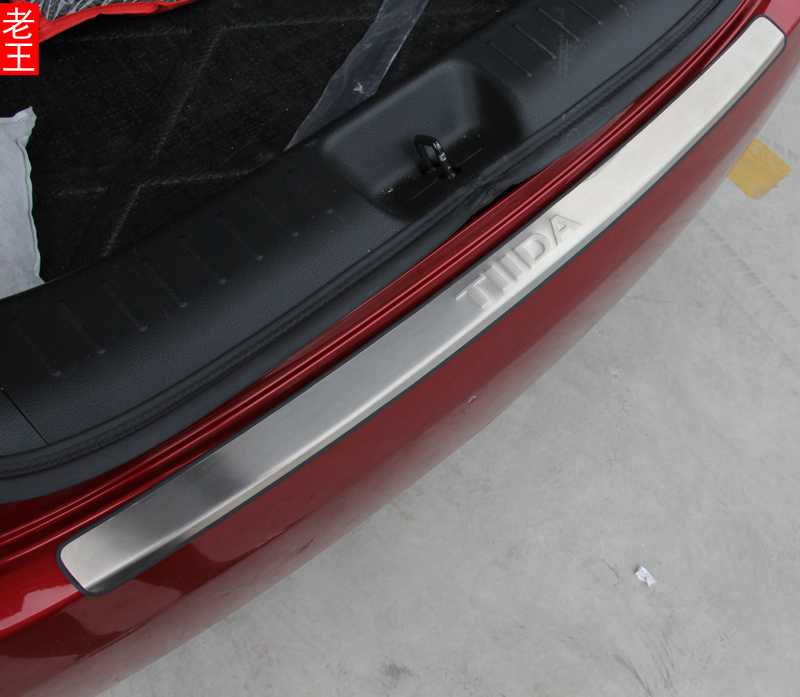 Enrollment of nissan tiida new models dedicated trunk trim rear fender modified special stainless steel
