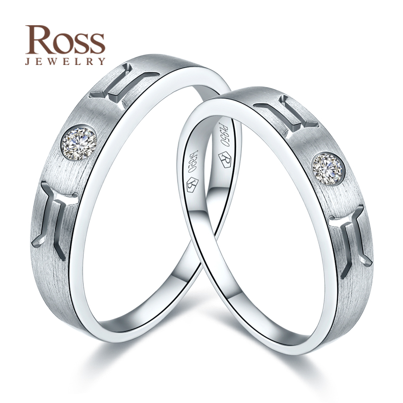 Enthone ross' k gold jewelry wedding rings couple rings on the ring platinum wedding ring for men and women