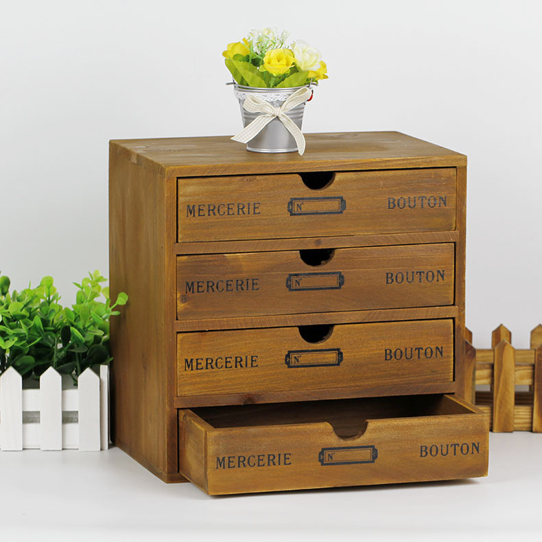 Get Quotations · Etee retro wooden four drawer storage cabinets cabinet finishing cabinet drawer storage box storage cabinets baby & China Wooden Storage Unit China Wooden Storage Unit Shopping Guide ...