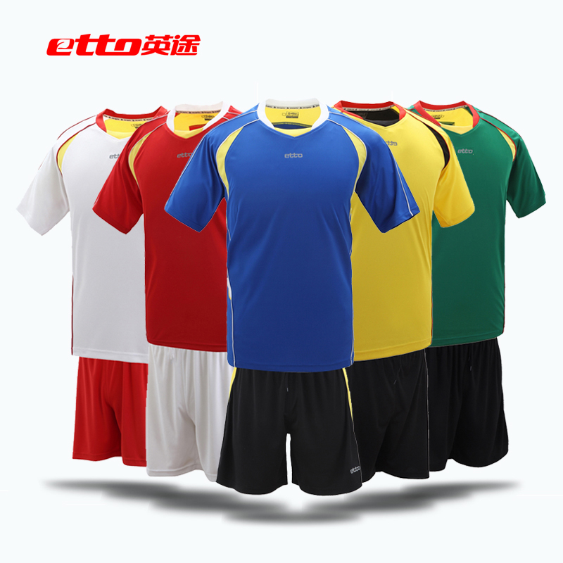 Etto british way soccer clothes soccer football game jersey short sleeve jersey suit suit SW1106
