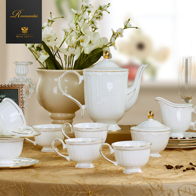 Euclidian 15 ceramic wedding gifts bone china mugs suit english afternoon tea coffee tea set