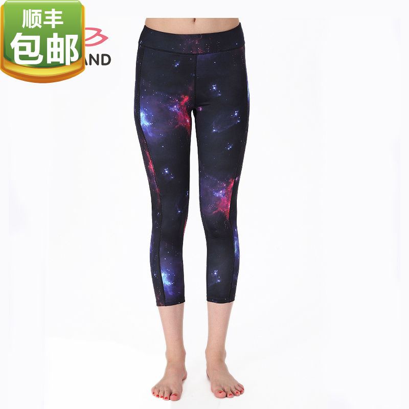Eukanuba lotus yoga clothes new summer cultivating wild printing cropped pants running fitness yoga BPW037