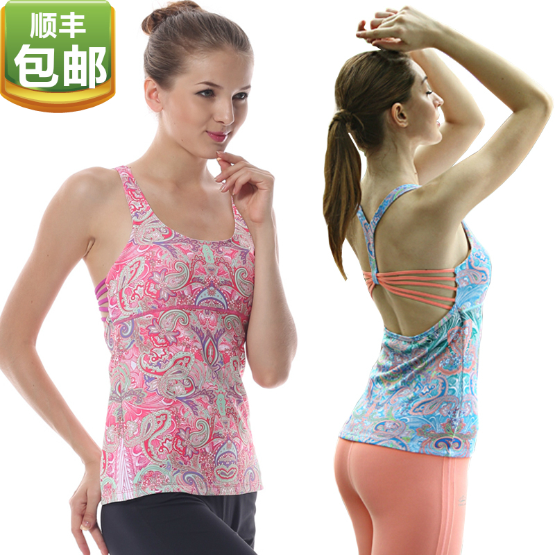 Eukanuba lotus yoga clothes shirt printing vest dance workout clothes new fashion halter top