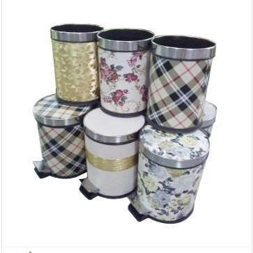 Euro trash plastic leather fashion creative trash trash trash trash foot health barrels