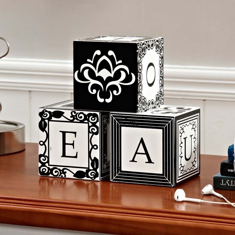 European and american creative magic props theme wooden alphabet set decoration living room study children's room home decorations